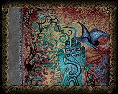 Celtic Art Afghan Throws By Jen Delyth