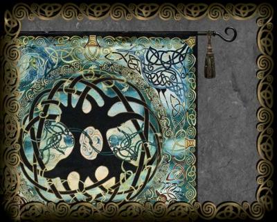 Celtic Wall Art celtic art textilesjen delyth - wall hangings, fine art