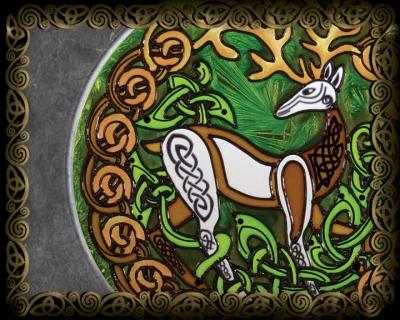 Celtic Wall Art celtic art illuminations, clocks, stained glass, metal sculptures