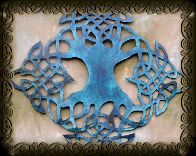Celtic Tree Of Life Artwork By Jen Delyth As Metal