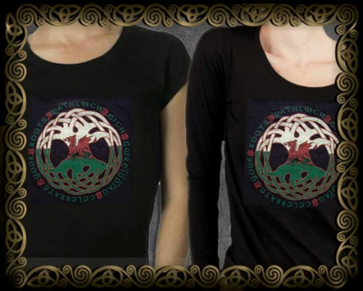 Women's Styles Vintage Celt Dragon Roots