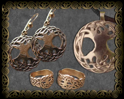 Tree of Life 14K  Gold Jewelry