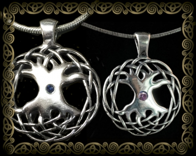 Celtic Tree of Life Gemstone Pendant