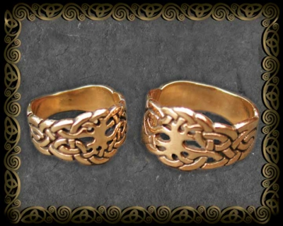 Hand Cast 14K GOLD RINGS Celtic Tree of Life by Jen Delyth