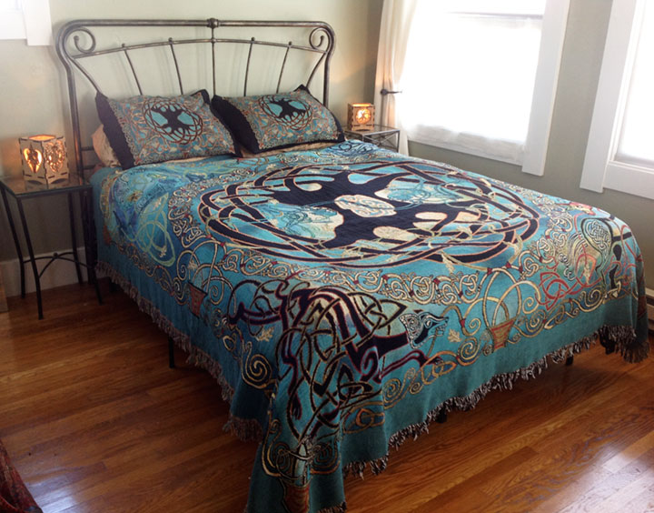 Tree Of Life Mandala Multicolored Bedspread Celtic Art