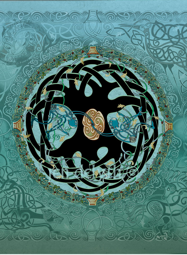 Tree Of Life Mandala Greeting Card By Jen Delyth Celtic