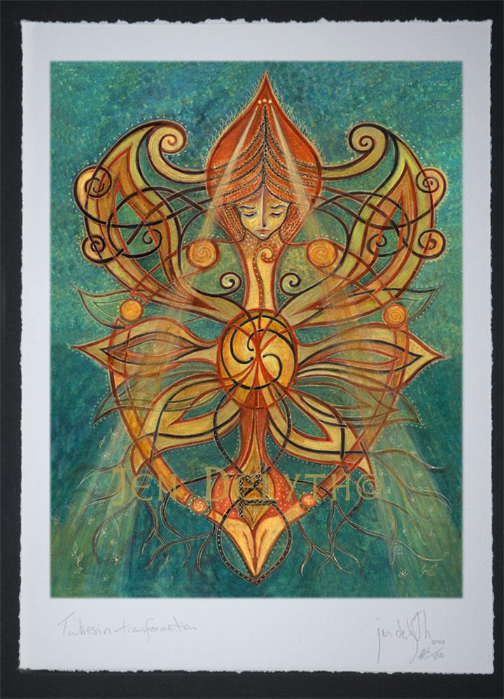Celtic Autumn Leaves Mixed Media by Kristen Fox   Celtic Fine Art Prints