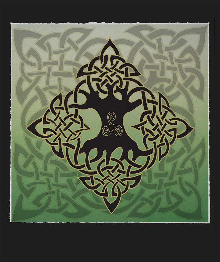 Tree Of Life Limited Edition Celtic Art Print By Welsh