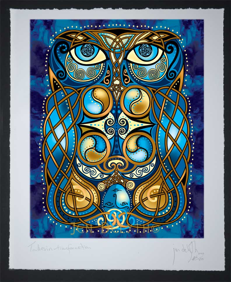 Blodeuwedd The Owl Limited Edition Celtic Art Print By