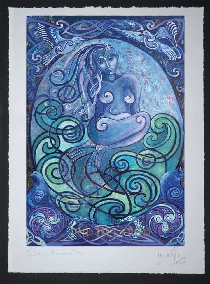 Selkie Seal Woman Limited Edition Celtic Art Print By