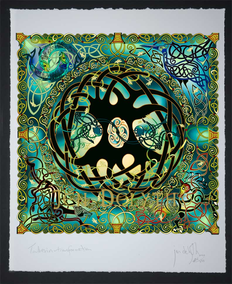 Tree Of Life Mandala Celtic Art Limited Edition Giclee Print By