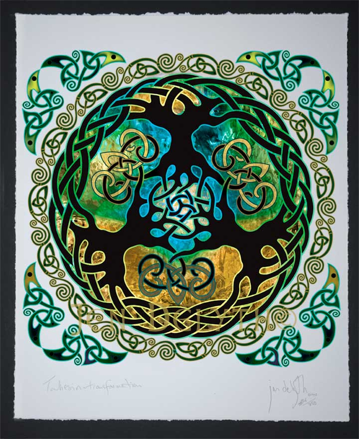 Yggdrasil World Tree Limited Edition Celtic Art Print By