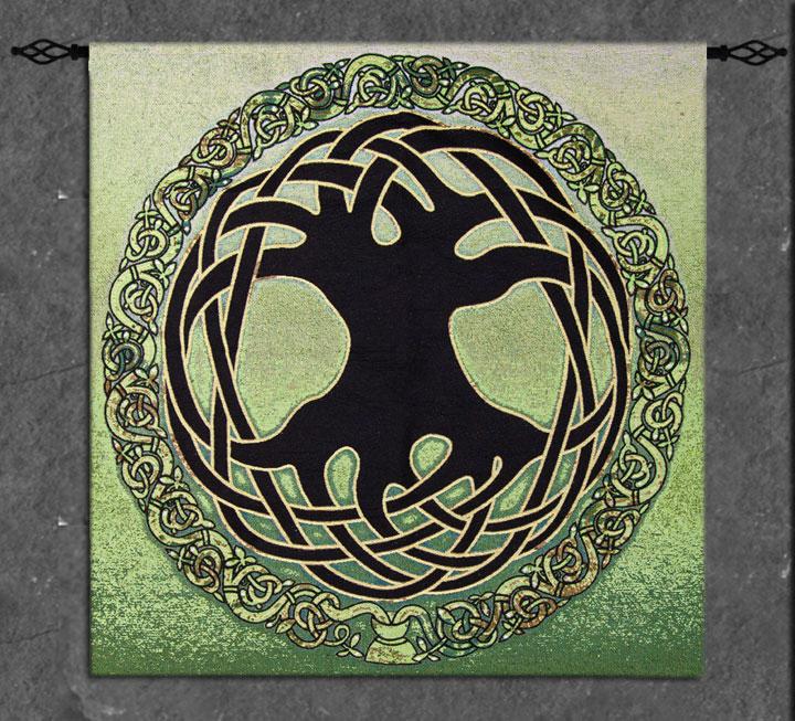 Fine Art Tapestry Celtic Tree Of Life By Jen Delyth