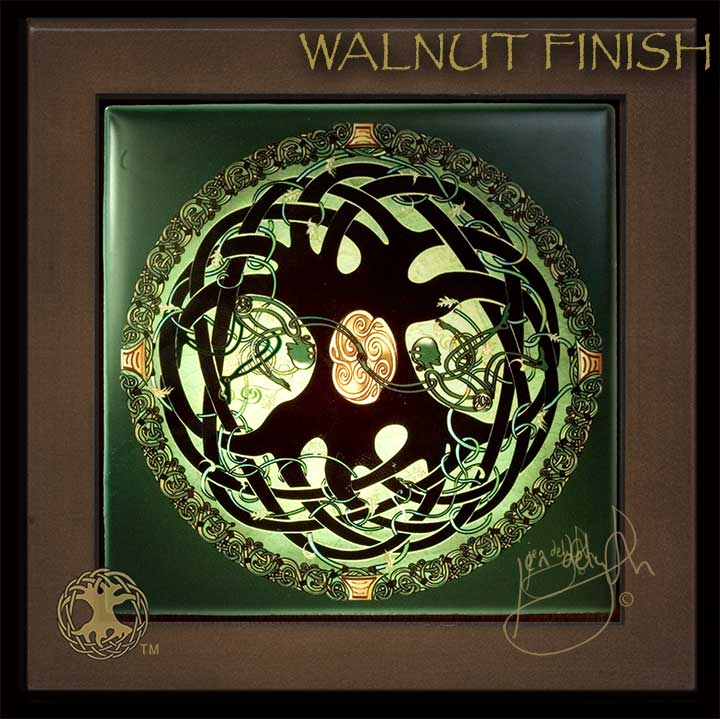Celtic Tree Of Life Mandala Wood Framed Tile