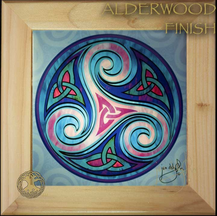 Triskele Celtic Triple Goddess Wood Framed Tile By Jen