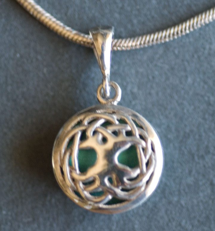 Celtic tree of life sterling silver celtic pendant by jen delyth tree of life solstice edition pendant with malachite aloadofball Images