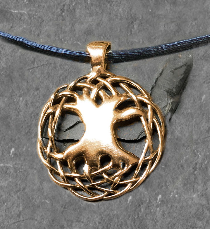 TREE OF LIFE celtic gold pendant SOLID GOLD 1 14 PENDANT by Jen Delyth