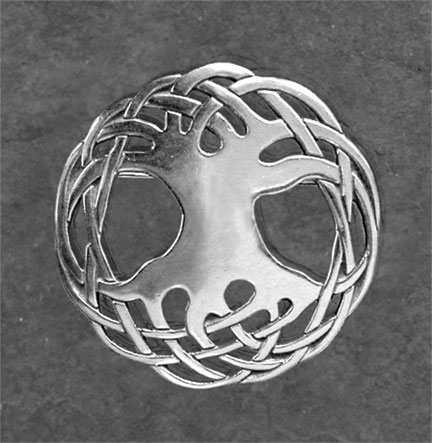 Tree Of Life Sterling Silver Celtic Brooch By Welsh
