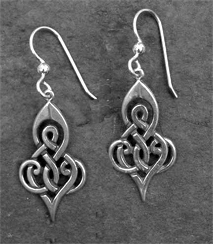 Double Spiral Sterling Silver Celtic Earrings