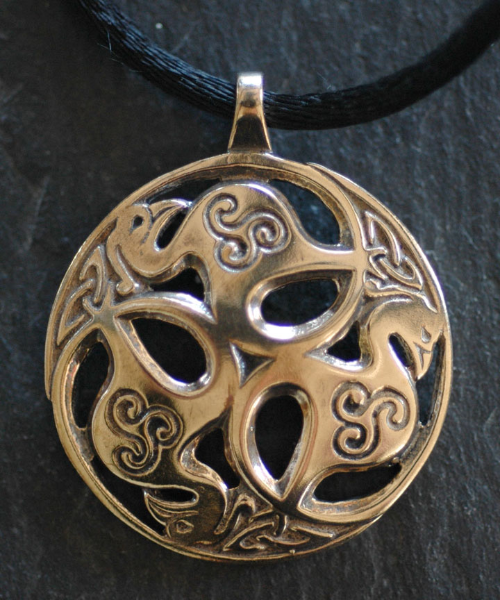 pagan viking pendant workshop amulet with slavic jewelry symbol bronze neclace kolovrat
