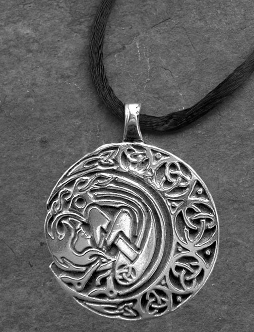 Arianrhod moon spirit large sterling silver celtic pendant by arianrhod moon spirit large sterling silver celtic pendant aloadofball Images