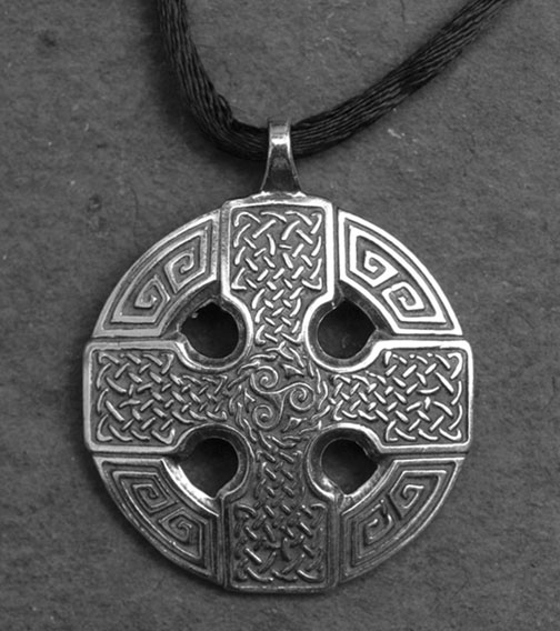 Celtic cross large sterling silver celtic pendant by welsh artist celtic cross large sterling silver celtic pendant mozeypictures Gallery