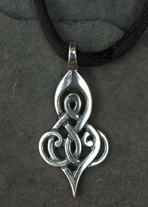Double spiral small sterling silver celtic pendant by welsh artist double spiral small sterling silver celtic pendant mozeypictures Gallery