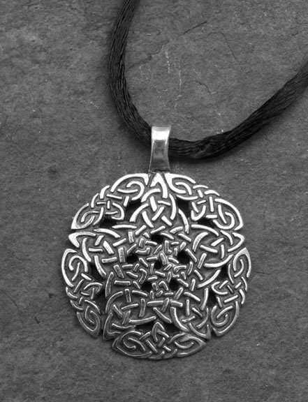 Pentacle knot large sterling silver celtic pendant by welsh artist pentacle knot large sterling silver celtic pendant mozeypictures Image collections