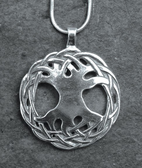 Tree of life large sterling silver celtic pendant by welsh artist tree of life large sterling silver celtic pendant mozeypictures Choice Image