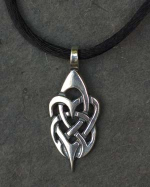Tribal hearts small sterling silver celtic pendant by welsh artist tribal hearts small sterling silver celtic pendant mozeypictures
