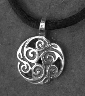Triskelion small sterling silver celtic pendant by welsh artist triskelion small sterling silver celtic pendant mozeypictures