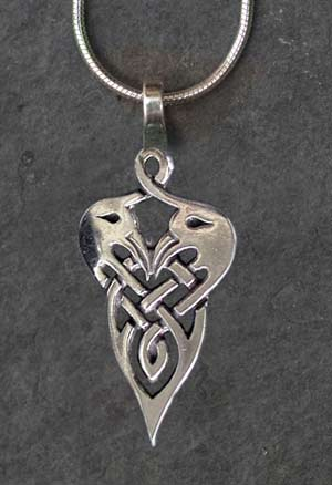 Crane small sterling silver celtic pendant by welsh artist jen crane small sterling silver celtic pendant mozeypictures Images