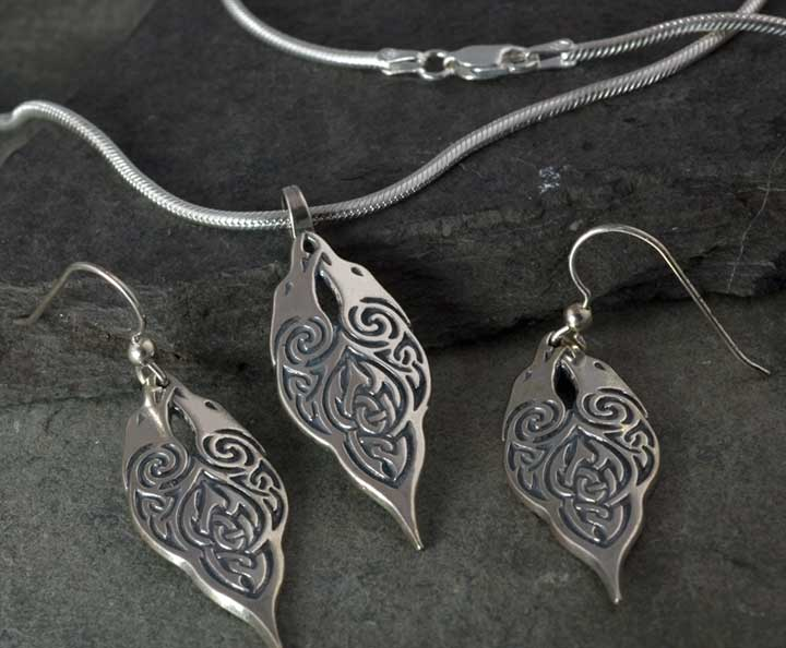 Ravens morrigan jewelry sterling silver pendant and earrings set ravens morrigan pendant earrings chain sterling silver set mozeypictures Gallery