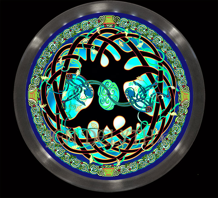 Celtic Tree Of Life Mandala Led Wall Art Illumination