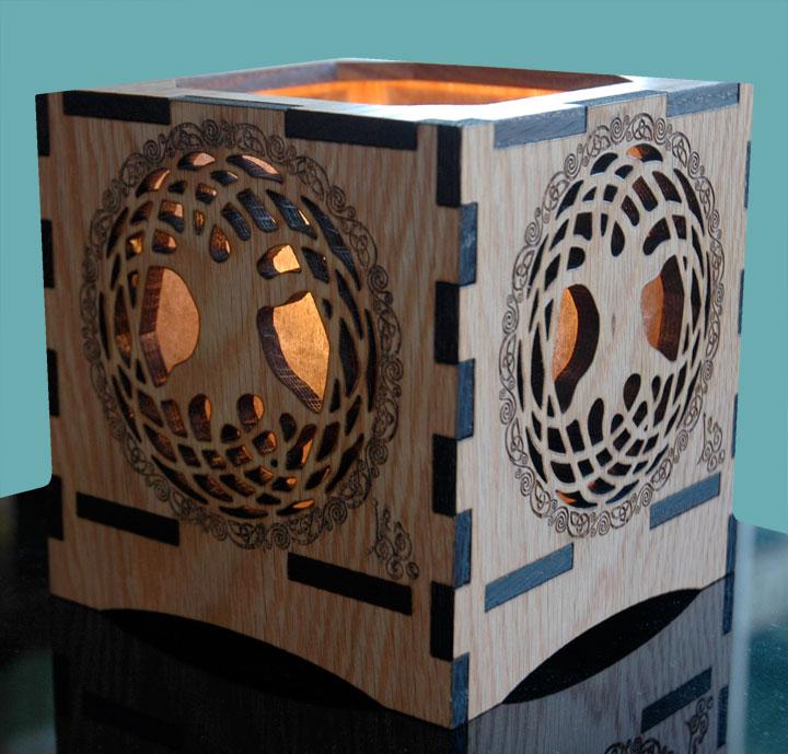Wood Mica Table Lamp Celtic Tree Of Life