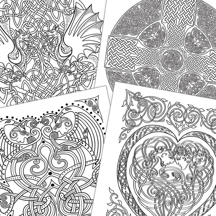 COLORING BOOK - Celtic Myth and Symbol by Jen Delyth