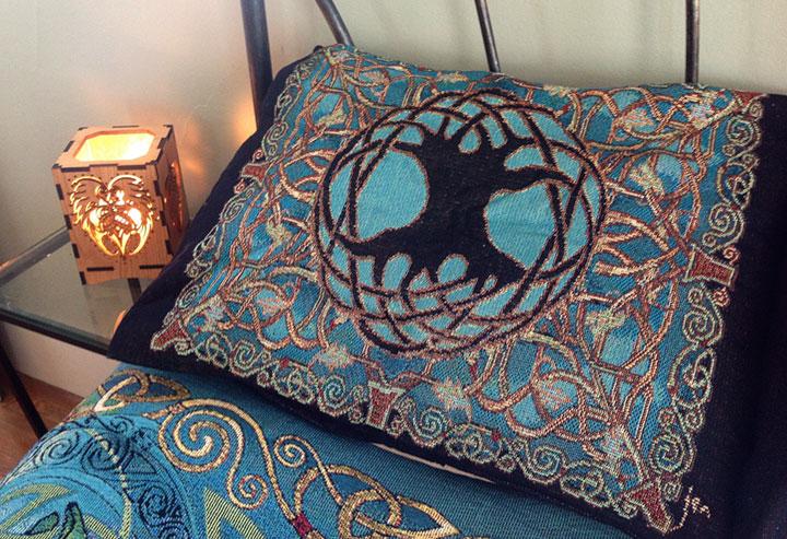 Tree Of Life Mandala Multicolored Bedspread Celtic Art Studio Celtic Art Jen Delyth Welsh