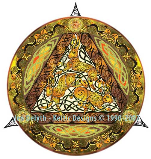 Wilde Hares Embroidery Cross Stitch Pattern