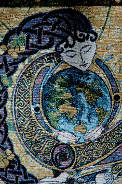 Fine Art Heirloom Tapestry Anu Earth Mother Artwork By