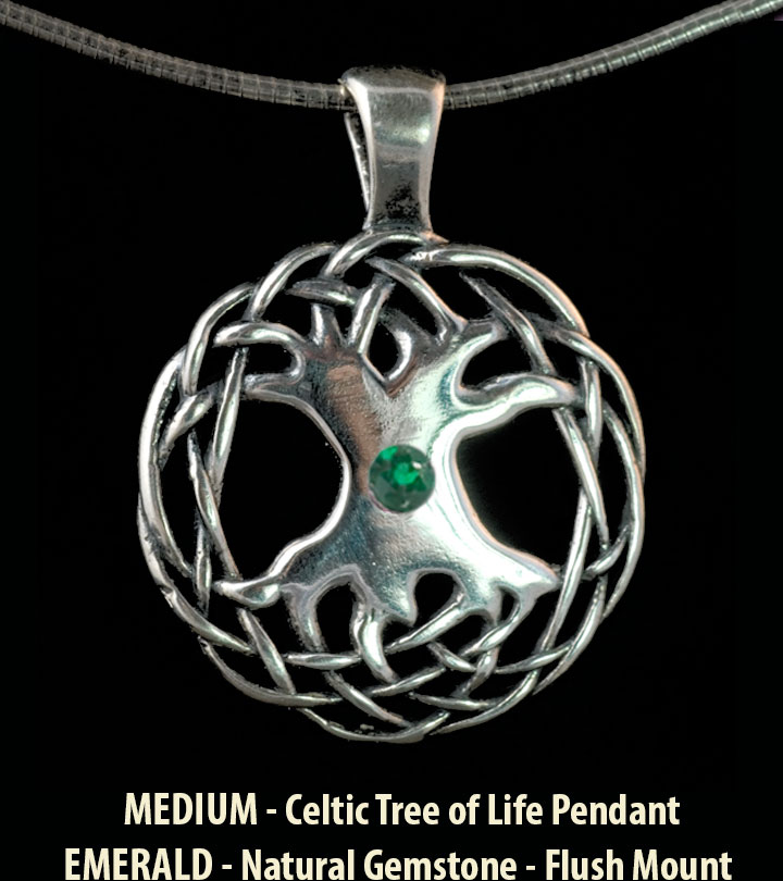 Celtic Tree Of Life Large Sterling Silver Celtic Pendant By Jen