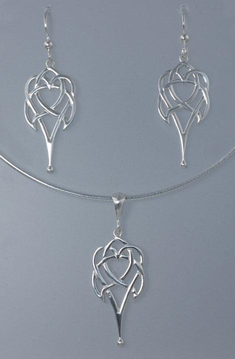 Celtic Heart Large Sterling Silver Celtic Pendant By Jen
