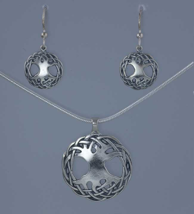 Celtic Tree Of Life By Jen Delyth Large Sterling Silver