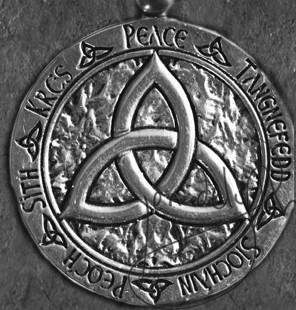 Celtic Doves Peace Triquetra Set Large Sterling Silver