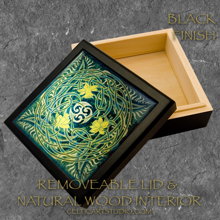 Daffodils celtic keep sake boxes by welsh artist jen for Black box container studios