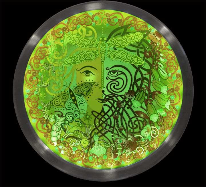 Garden Celtic Art Illumination Color Change