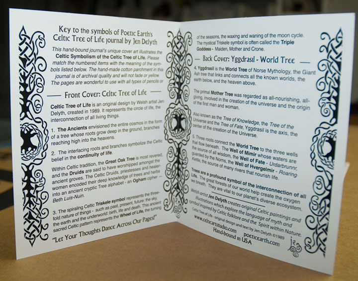 BOOK OF SHADOWS Celtic Tree of Lifeby Jen Delyth - Celtic