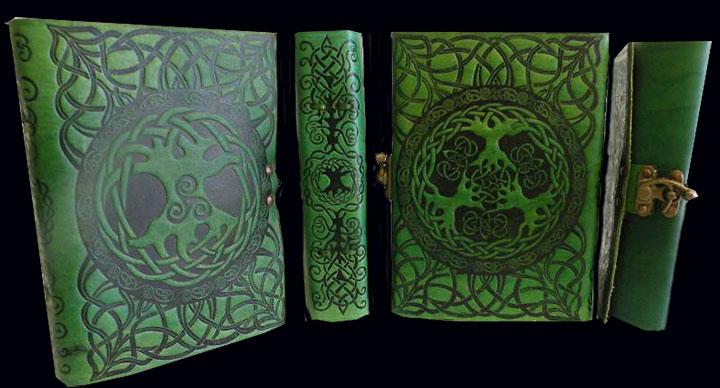 Celtic Tree Of Life Leather Journal By Jen Delyth Celtic