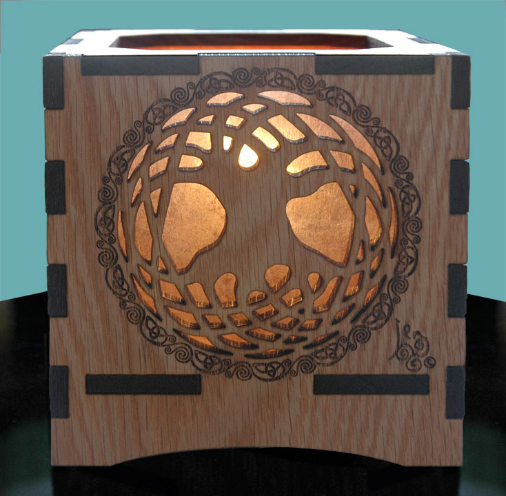 Celtic Tree Of Life Wood Lamp Jen Delyth Celtic Art Studio