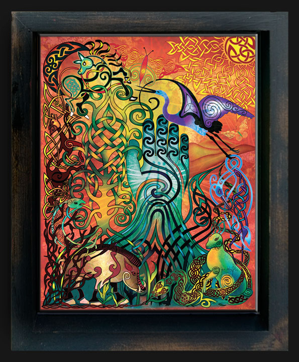 Awen Creation Shadow Box By Jen Delyth Limited Edition