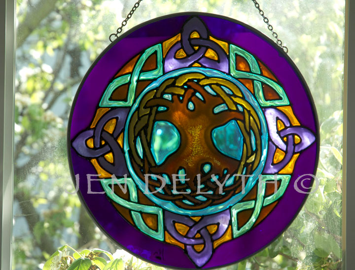 Celtic Tree Of Life Stained Glass Celtic Art By Welsh